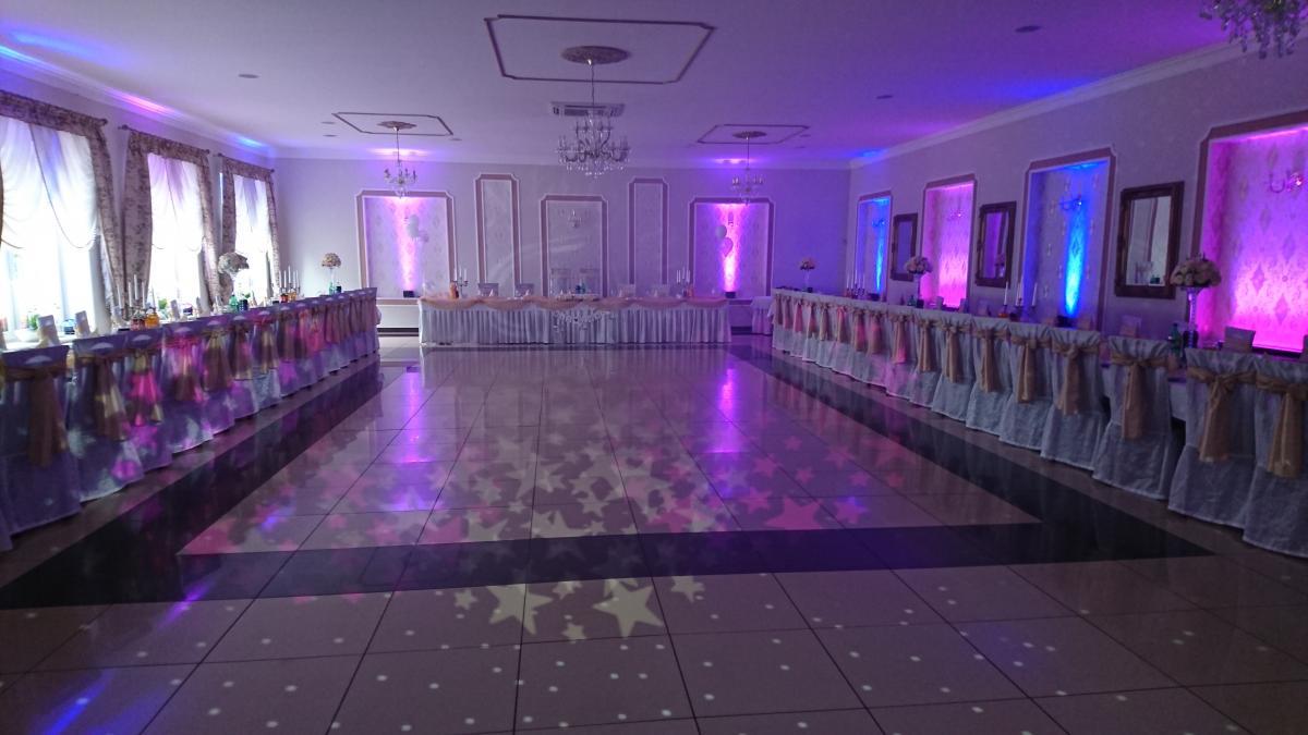 doświetlenie sali wesele